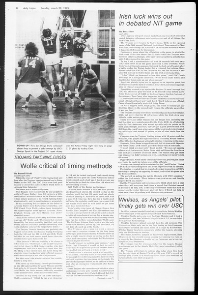 Daily Trojan, Vol. 65, No. 94, March 20, 1973