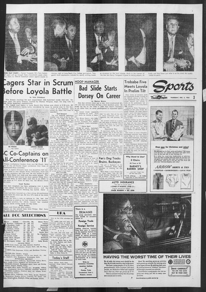 Daily Trojan, Vol. 46, No. 53, December 02, 1954