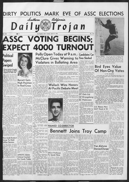 Daily Trojan, Vol. 45, No. 119, April 27, 1954