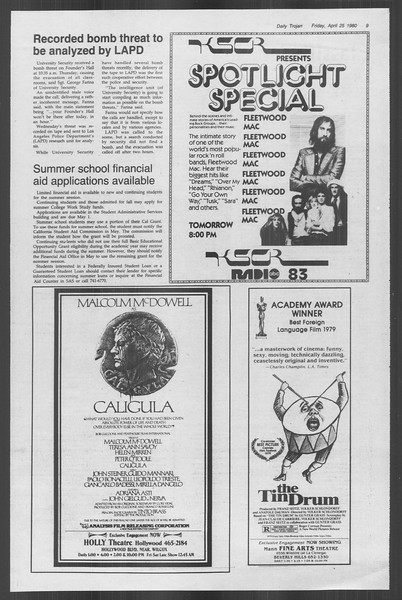 Daily Trojan, Vol. 88, No. 52, April 25, 1980