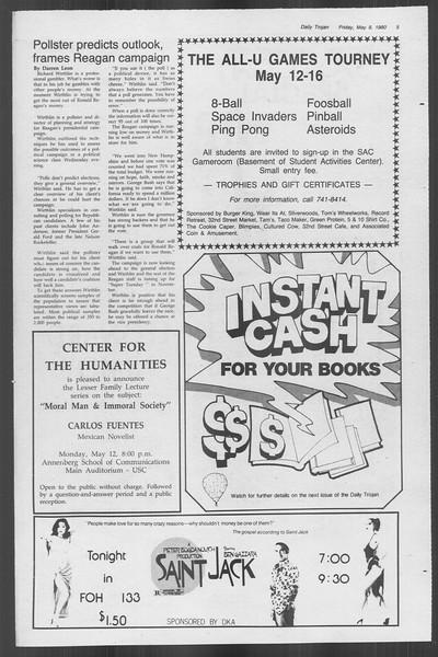 Daily Trojan, Vol. 88, No. 62, May 09, 1980