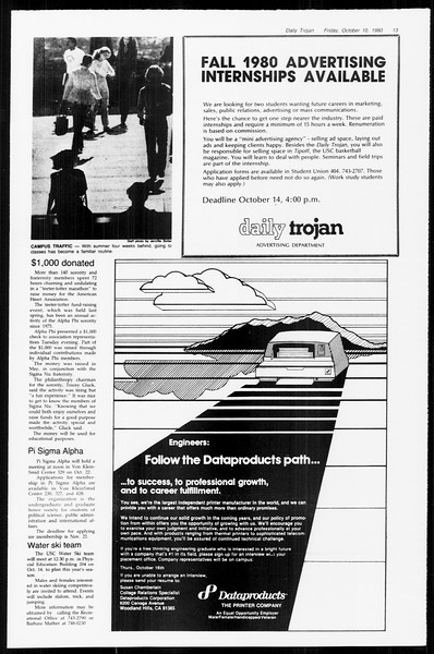Daily Trojan, Vol. 89, No. 19, October 10, 1980