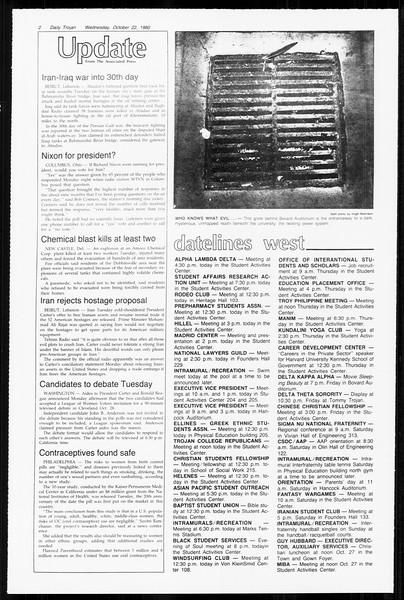 Daily Trojan, Vol. 89, No. 26, October 22, 1980