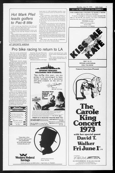 Daily Trojan, Vol. 65, No. 129, May 17, 1973