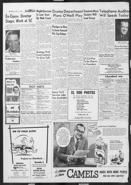 Daily Trojan, Vol. 46, No. 29, October 27, 1954
