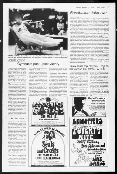 Daily Trojan, Vol. 65, No. 80, February 27, 1973