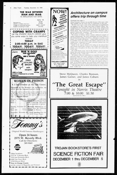 Daily Trojan, Vol. 89, No. 43, November 18, 1980
