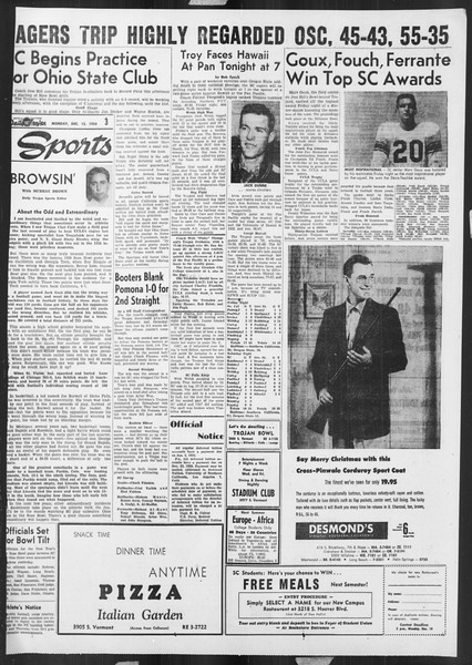 Daily Trojan, Vol. 46, No. 60, December 13, 1954