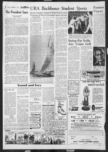 Daily Trojan, Vol. 46, No. 59, December 10, 1954