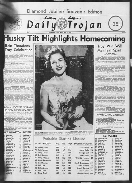 Daily Trojan, Vol. 46, No. 41, November 12, 1954