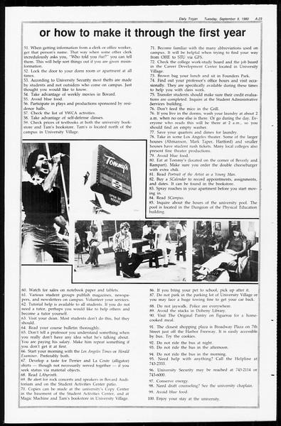 Daily Trojan, Vol. 89, No. 1, September 09, 1980