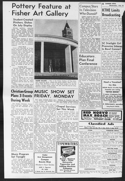 Summer News, Vol. 9, No. 9, July 21, 1954