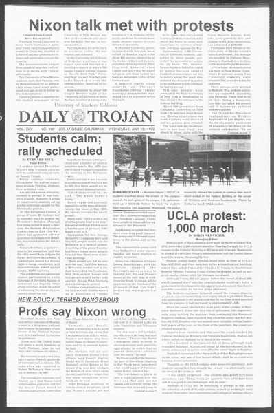 Daily Trojan, Vol. 64, No. 120, May 10, 1972