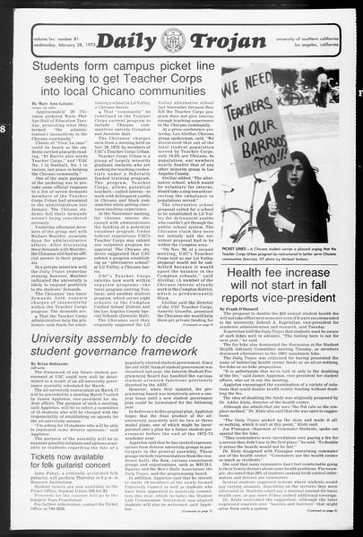 Daily Trojan, Vol. 65, No. 81, February 28, 1973