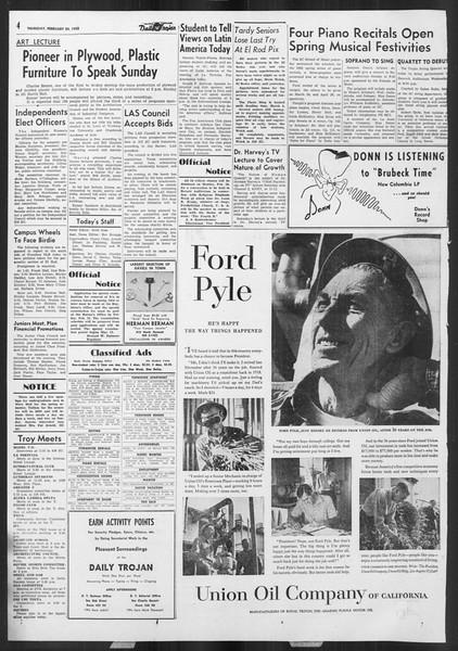 Daily Trojan, Vol. 46, No. 84, February 24, 1955