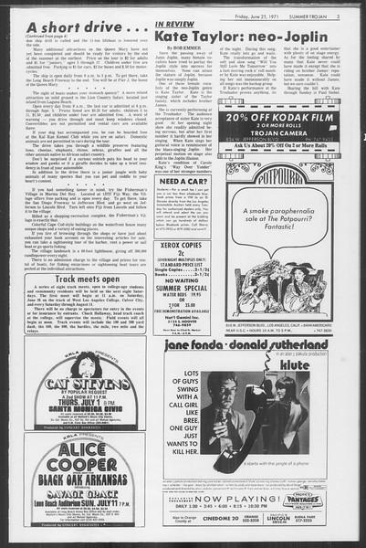 Summer Trojan, Vol. 63, No. 4, June 25, 1971