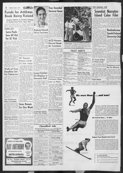 Daily Trojan, Vol. 46, No. 38, November 09, 1954