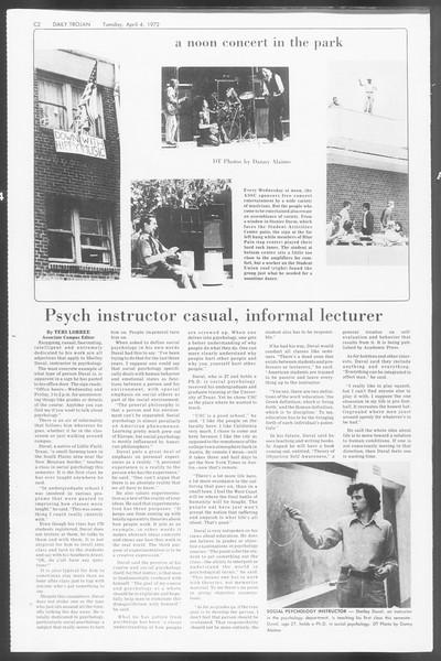 Daily Trojan, Vol. 64, No. 96, April 04, 1972