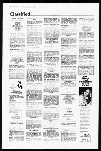 Daily Trojan, Vol. 89, No. 19, October 10, 1980