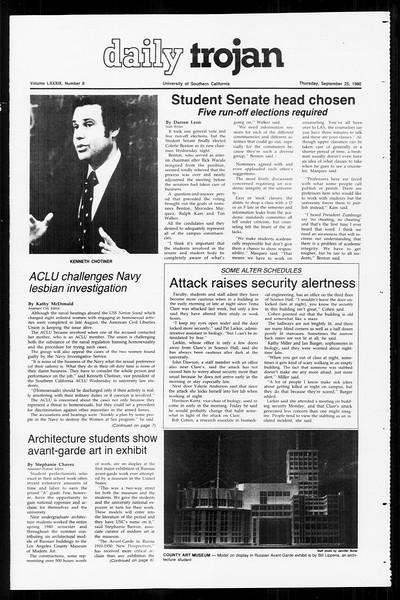 Daily Trojan, Vol. 89, No. 9, September 25, 1980