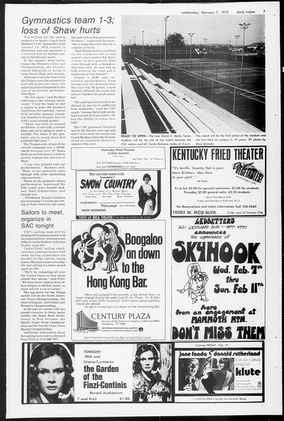 Daily Trojan, Vol. 65, No. 67, February 07, 1973