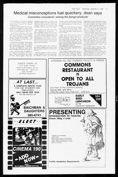 Daily Trojan, Vol. 89, No. 3, September 17, 1980
