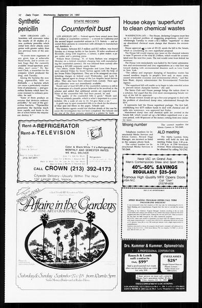 Daily Trojan, Vol. 89, No. 8, September 24, 1980