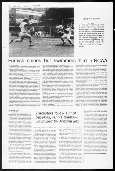 Daily Trojan, Vol. 65, No. 99, March 27, 1973