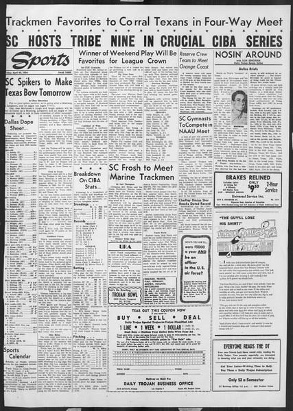 Daily Trojan, Vol. 45, No. 122, April 30, 1954