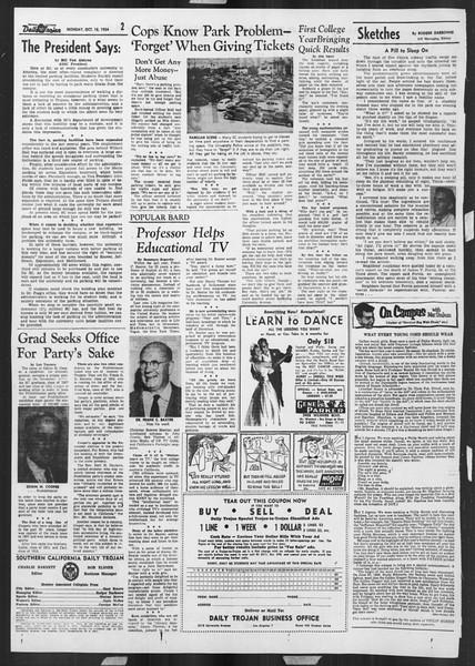 Daily Trojan, Vol. 46, No. 22, October 18, 1954