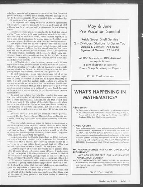 SoCal, Vol. 64, No. 118, May 08, 1972