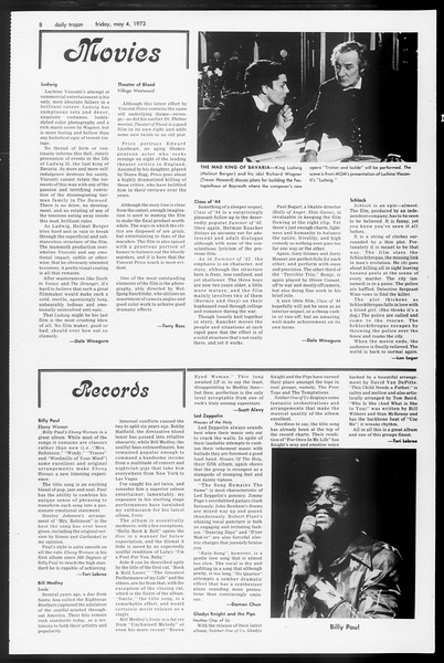 Daily Trojan, Vol. 65, No. 120, May 04, 1973