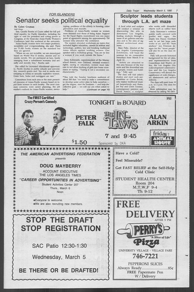 Daily Trojan, Vol. 88, No. 21, March 05, 1980