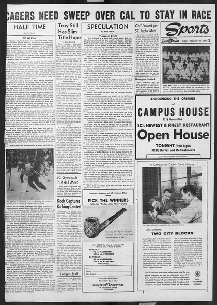 Daily Trojan, Vol. 46, No. 75, February 11, 1955