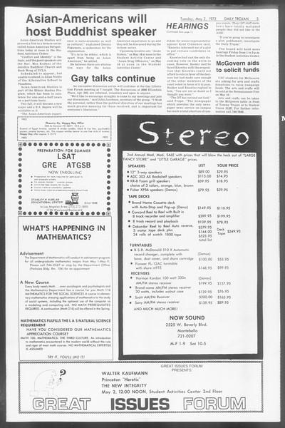 Daily Trojan, Vol. 64, No. 114, May 02, 1972