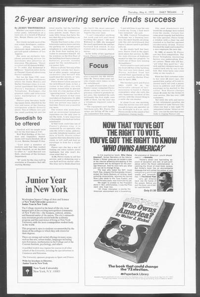 Daily Trojan, Vol. 64, No. 116, May 04, 1972