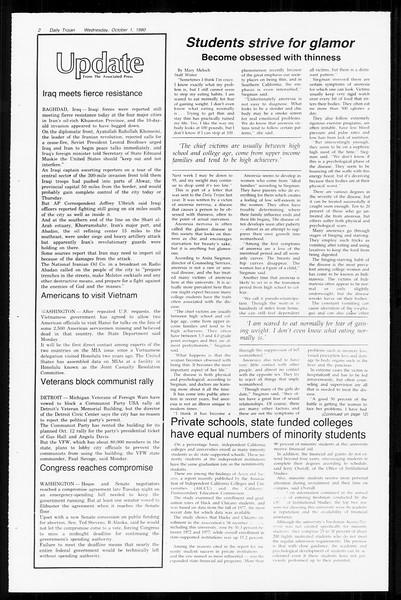 Daily Trojan, Vol. 89, No. 13, October 01, 1980