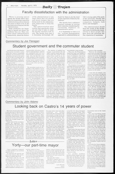 Daily Trojan, Vol. 65, No. 106, April 05, 1973