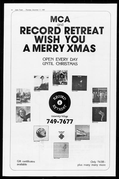 Daily Trojan, Vol. 89, No. 57, December 11, 1980