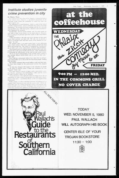 Daily Trojan, Vol. 89, No. 36, November 05, 1980