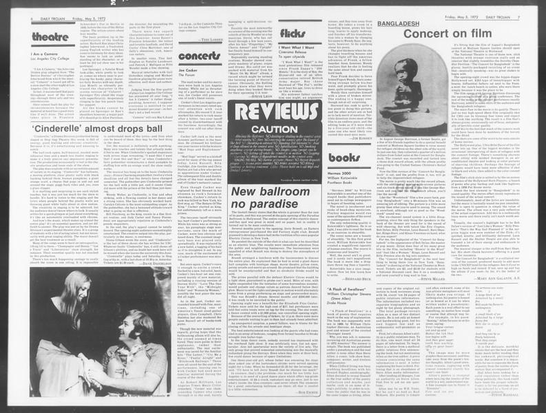 Daily Trojan, Vol. 64, No. 117, May 05, 1972