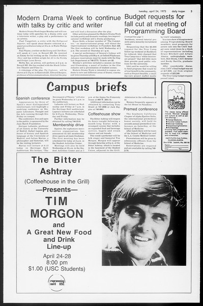 Daily Trojan, Vol. 65, No. 112, April 24, 1973