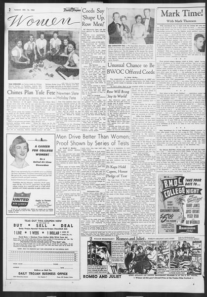 Daily Trojan, Vol. 46, No. 61, December 14, 1954