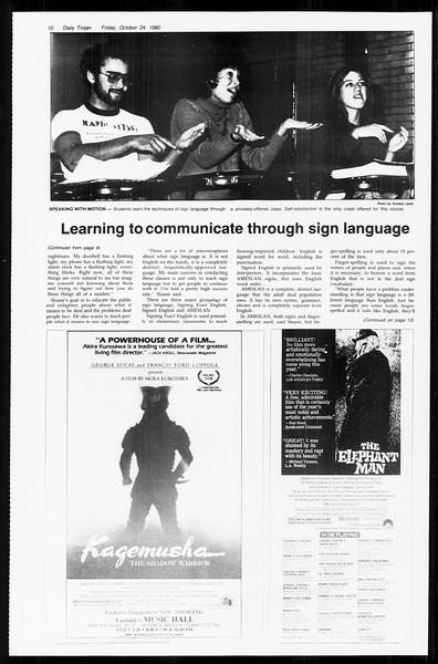 Daily Trojan, Vol. 89, No. 28, October 24, 1980