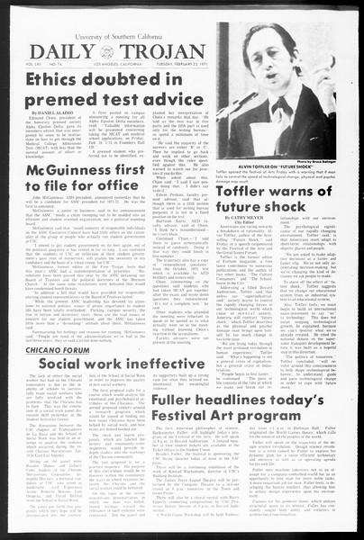 Daily Trojan, Vol. 62, No. 74, February 23, 1971