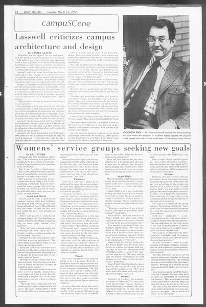 Daily Trojan, Vol. 64, No. 88, March 14, 1972