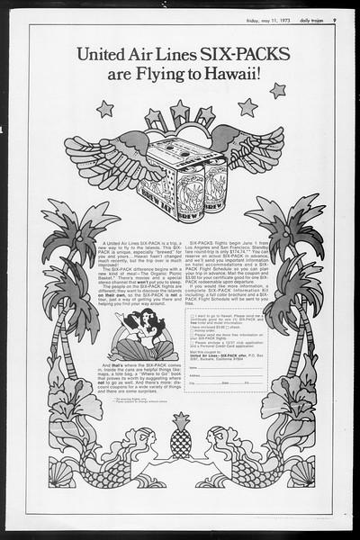 Daily Trojan, Vol. 65, No. 125, May 11, 1973