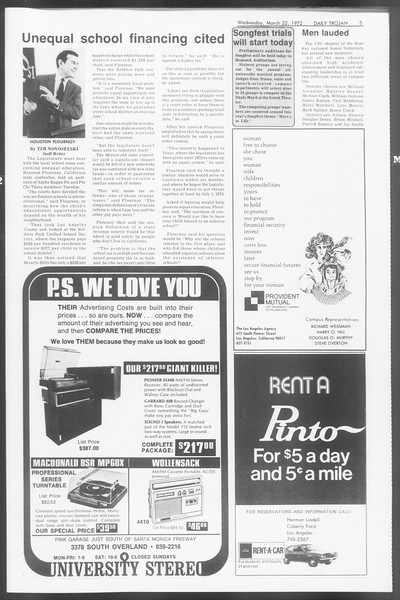 Daily Trojan, Vol. 64, No. 94, March 22, 1972