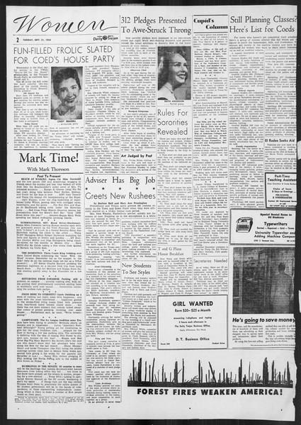 Daily Trojan, Vol. 46, No. 3, September 21, 1954