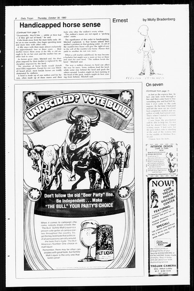 Daily Trojan, Vol. 89, No. 32, October 30, 1980